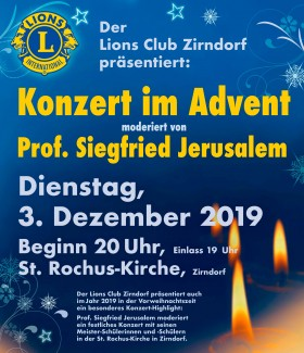 Adventskonzert des Lions Club Zirndorf